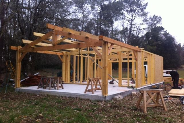 Garage en ossature bois – Sarlat