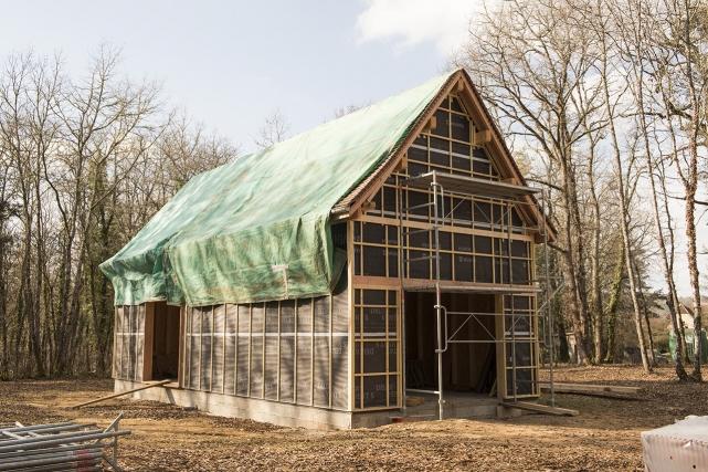 Ossature bois inspirée d'un hangar à tabac